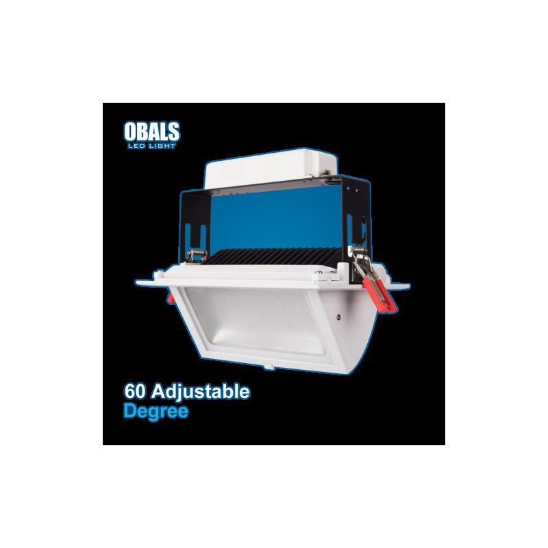 Foco rectangular orientable