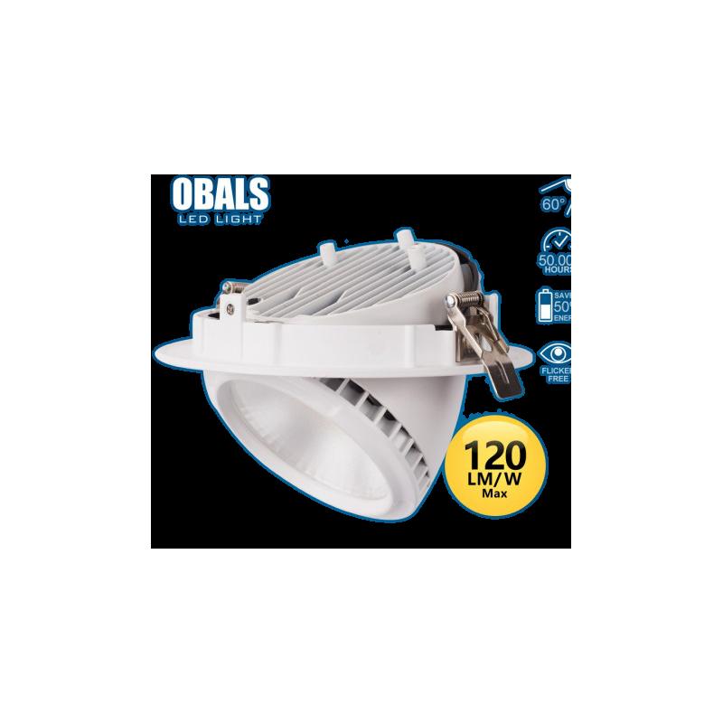 Foco de techo circular LED orientable