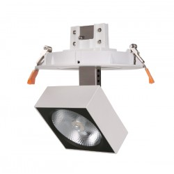 Foco de techo circular LED orientable